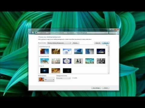 Change Desktop Background Win 7