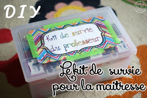 Kit de Survie du professeur (tuto inside) - Dans ma petite roulotte...