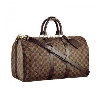 Louis Vuitton N41428 Keepall 45 mit Schultergurt Ebony Louis Vuitton Herren Reise Taschen