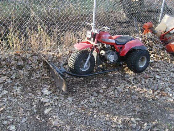 Snow plows for 3-wheelers | Honda Big Red 3-Wheelers ...