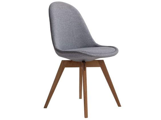 basil stuhl esszimmer wartezimmer stoff grau & eiche | new home