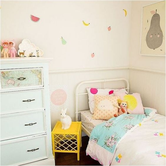 vintage and playful girl's room