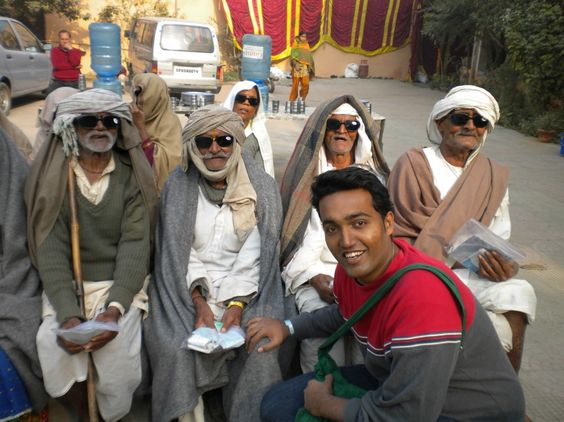 Working with people in Northern India.