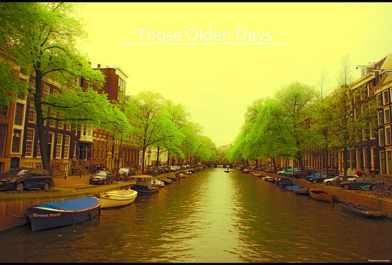 Amsterdam Canal view - I (Those Olden Days)~Explored 05052012 by Prasanna Gururajan, via Flickr