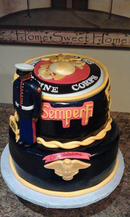 Marine Cake Marine Corps Cakesmarine Corps Birthday Cakes