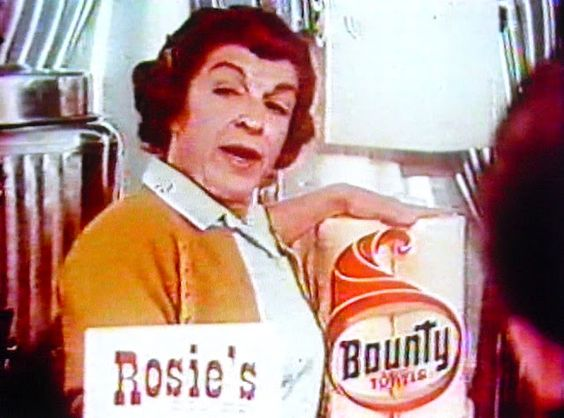 "Rosie used Bounty - the ""quicker picker upper"""