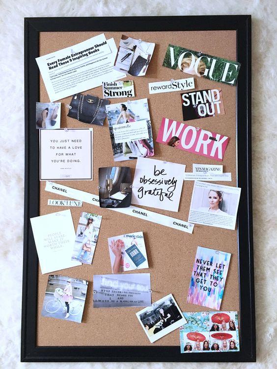 Como hacer un vision board o tablero de los sueños