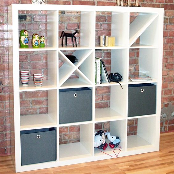 ikea expedit with diagonal shelves doing diy pinterest