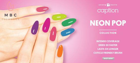 Nu beschikbaar bij www.mbccosmetics.nl. De #Caption Neon Pop Collectie, 8 prachtige zomerse kleuren.