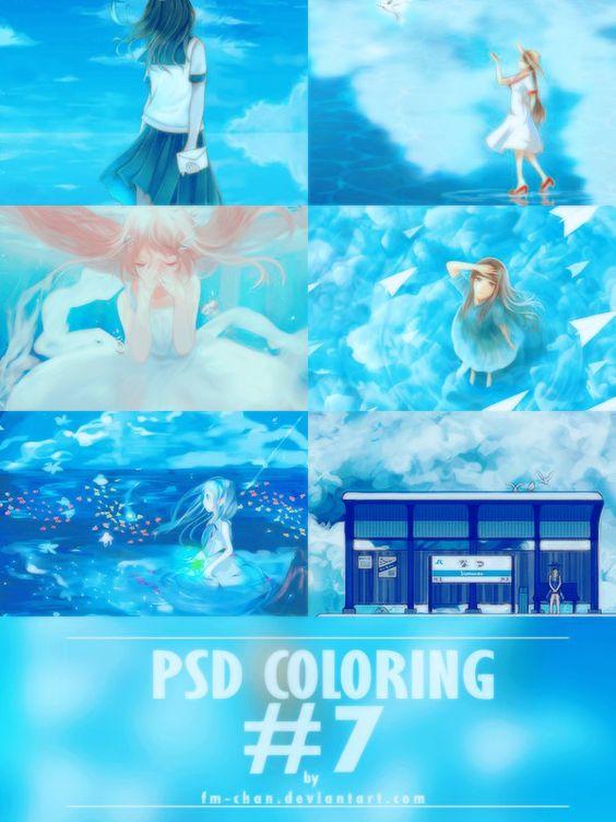 PSD Blue Color