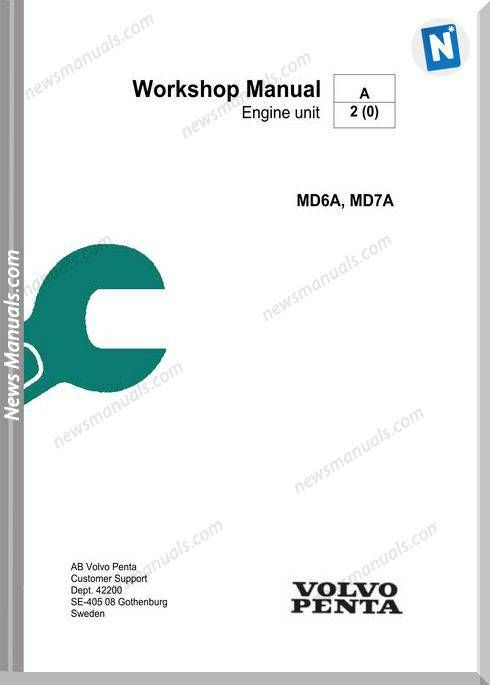 Volvo Penta Md6a Md7a Workshop Manual Volvo Workshop Electrical Diagram