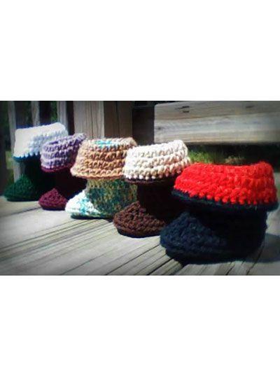 Crochet - Children & Baby Patterns - Gift Patterns - Baby Pirate Booties