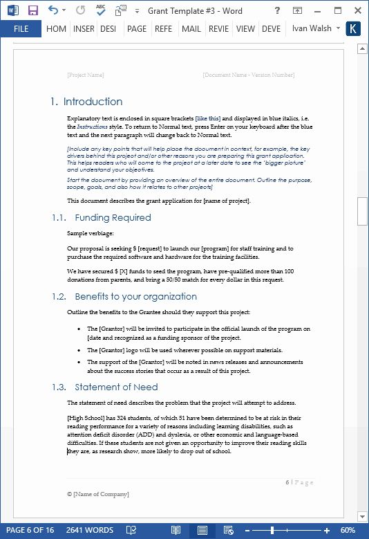 Free Proposal Templates For Word Peterainsworth Proposal Templates Free Proposal Template Grant Proposal