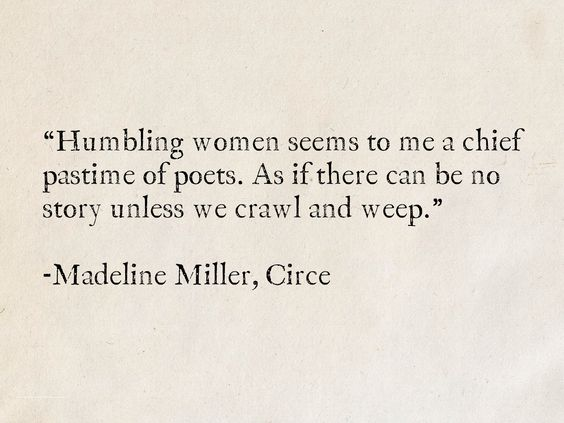 Quote from Circe about poet misogyny