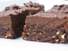 """These Frosted """"B-raw-nies"""" took 1st prize in @Everyday Health's gluten-free recipe contest. Whole-foods, vegan brownies... crazy yummy!"""
