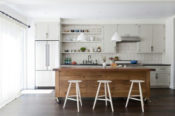 hängelampen küche hölterne kücheninsel beleuchten weiße hocker ... - Hocker Für Küche