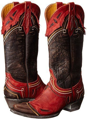 NEW in Box Old Gringo Noseque Western Boot Vesuvio Red/Chocolate SZ 8.5 STUNNING…
