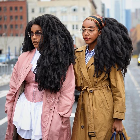 Takenya Quann and Cipriana NYFW twinning