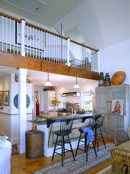 I love it when a second floor balcony over looks the first for Kitchen balcony ideas