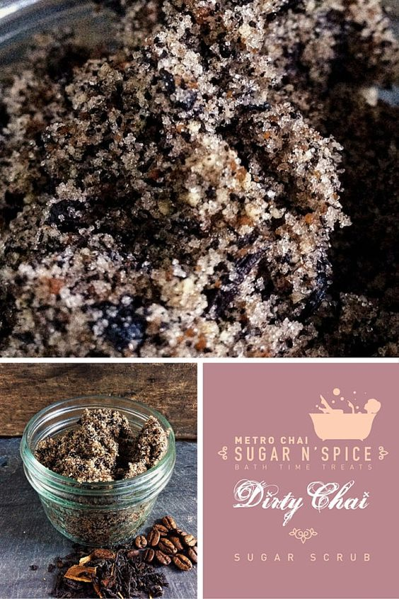 Sugar N' Spice  Dirty Chai Sugar Scrub by MetroChai