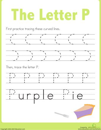 Worksheets: Practice Tracing Letters