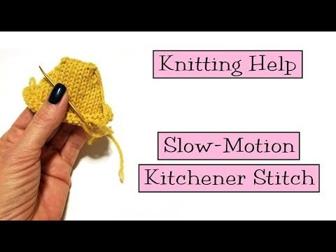 Slow Motion Kitchener Stitch Verypink Offers Knitting Patterns And Video Tutorials From Staci Perry Short Technique Knitting Help Knitting Tutorial Knitting