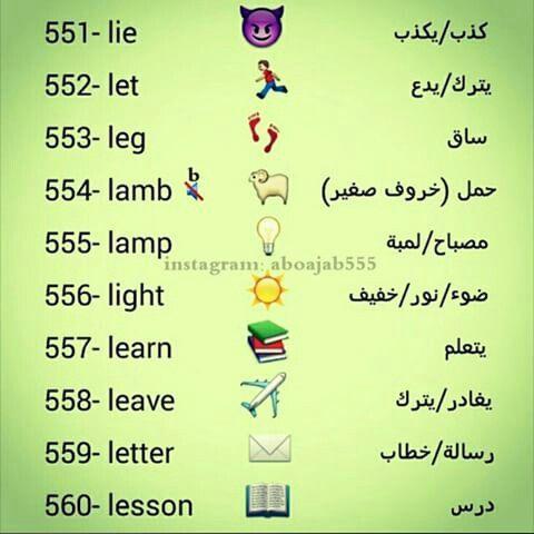 Learning Arabic Msa Fabiennem English Words Learn English English Vocabulary