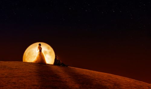 lean upon the moon
