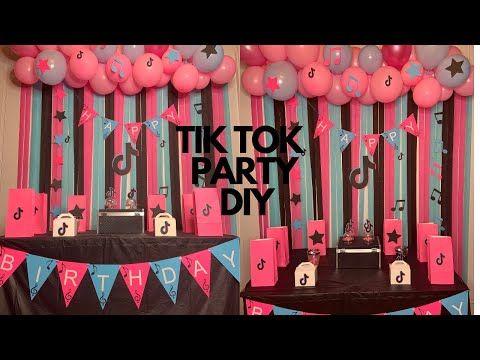 Tik Tok Theme Party Diy Tik Tok Party Ideas Music Party Diy Easy Tik Tok Party Youtube 12th Birthday Party Ideas Party Themes Birthday Surprise Party