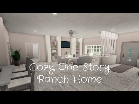 Youtube Flamingo Roblox Bloxburg Roblox Bloxburg Cozy One Story Ranch Home Speed Build Youtube In 2020 Unique House Design Ranch House Modern Style House Plans