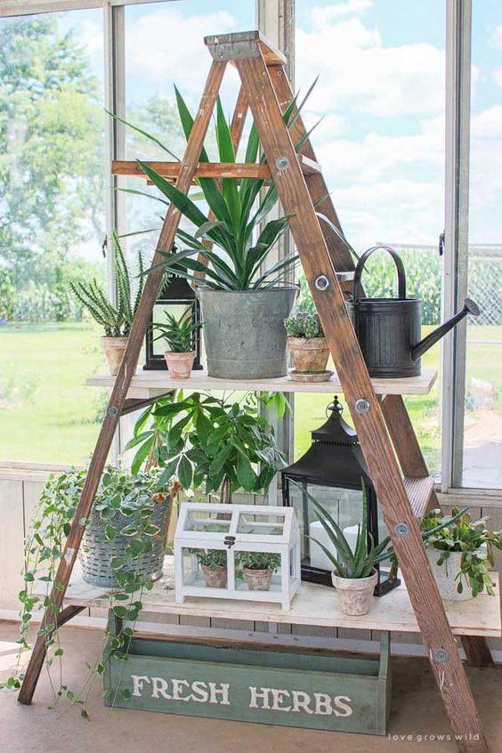 Escalera reciclada de madera: