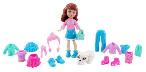Polly Pocket Totally Trendy Pets Lila's Frosty Fur-riends Bag by Mattel. $18.61. Everyday is an adventure with Lila and her pets. Girls will love to take their favorite Lila doll on-the-go. Zippered vinyl bag for easy storage. Adorable themed travel bags full of fashion and fun. Each set includes cute animal friends and fashions for doll and pets. From the Manufacturer                Polly Pocket Totally Trendy Pets Playset Collection: Girls will love to take their f...