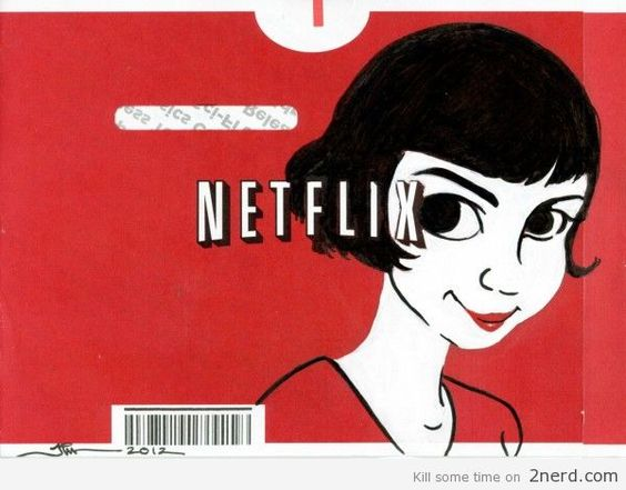 nice Netflix Return postage artwork