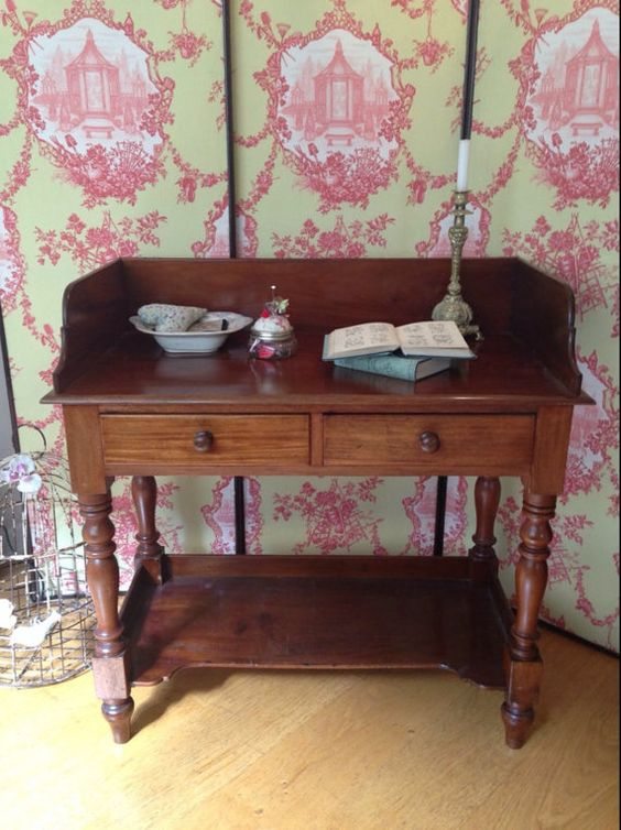 Gorgeous original victorian washstand/craft by Theoldsummerhouse