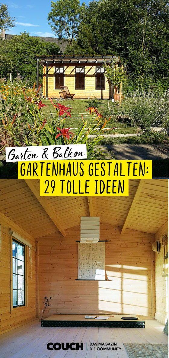 15++ Garten mit gartenhaus gestalten ideen