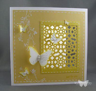 Lace ribbon border punch lattice window - so pretty!: