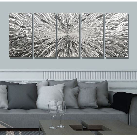 Statements2000 3D Metal Wall Art Silver Abstract by Jon Allen Photon