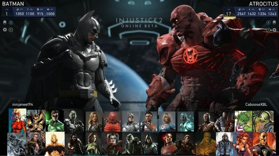 Injustice 2 - Personagens