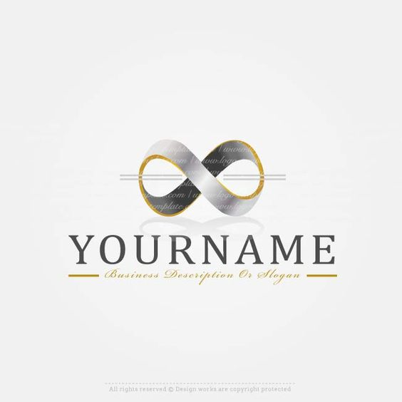 Create a logo template infinity logo design create your for Draw your own logo free online
