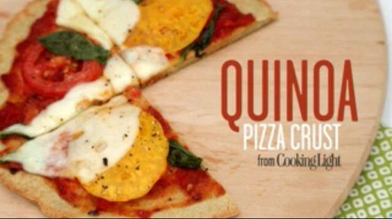 Quinoa Pizza Crust http://www.cookinglight.com/m/food/quinoa-pizza-crust-video?xid=social_facebook+