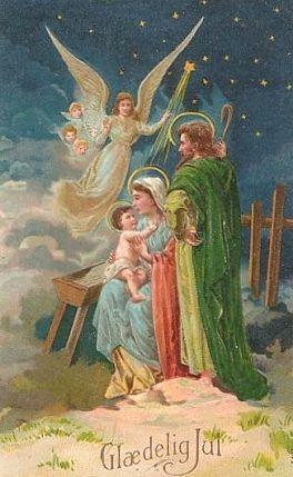 Vintage Nativity Card Christmas Graphics 2 Nativity