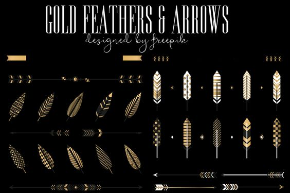 DLOLLEYS HELP: Flat Gold Feathers & Arrows