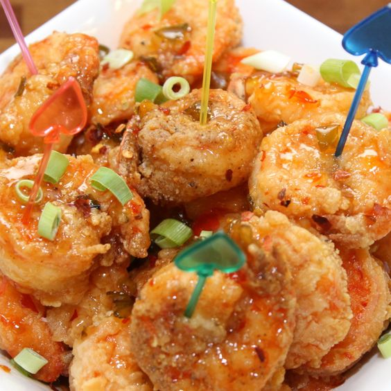 Game Day Fire Cracker Shrimp - really similar to the thai sweet and spicy chicken!