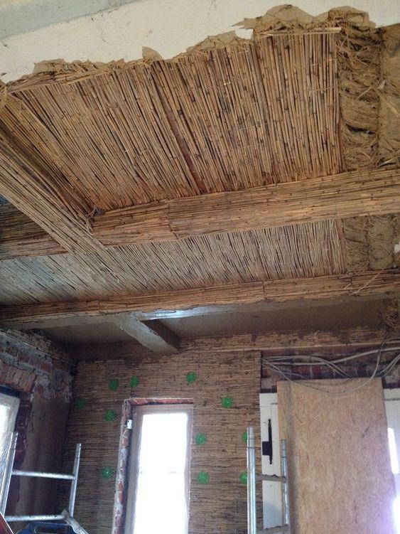 Ökologische Innendammung und Lehmverputzung für Wände und Decken - deckenpaneele verlegen attraktive decken