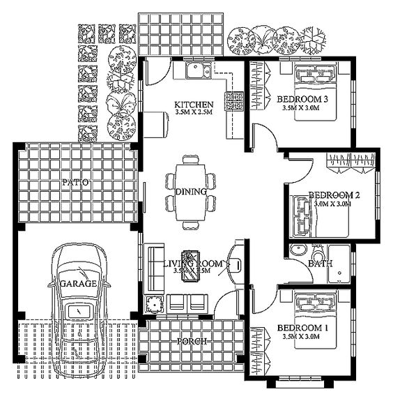 Modern house design 2012003 pinoy eplans modern house Floor plan of a modern house