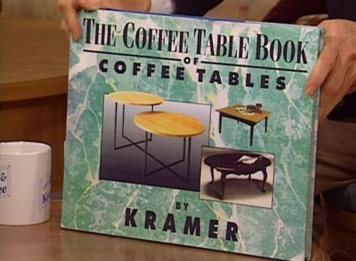 Image result for kramer's coffee table book