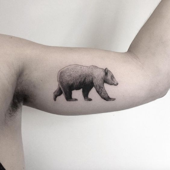 Perfect bear tattoo by Marabou                              …