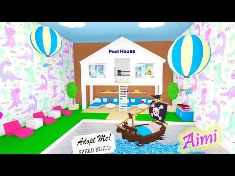Pool House Speed Build Adopt Me Roblox Pool Room Futuristic House Youtube In 2021 Pool House Designs Pool House Animal Room