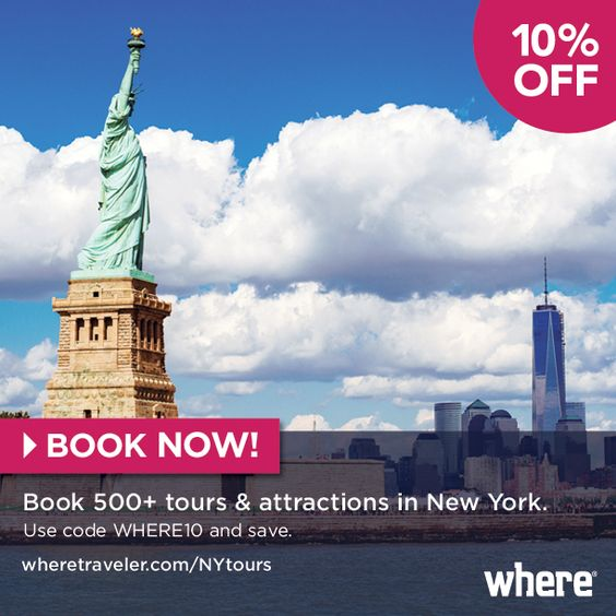 Exploring in NYC just got a little cheaper! BOOK NOW for 10% off at wheretraveler.com/NYtours Use Code: WHERE10  #booking #newyork #nyc #wheretraveler