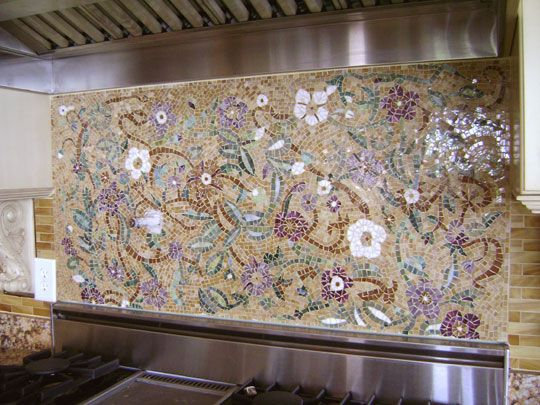 Beautiful Designs Of Mosaic Backsplash | Mosaic Backsplash, Mosaics And  Floral